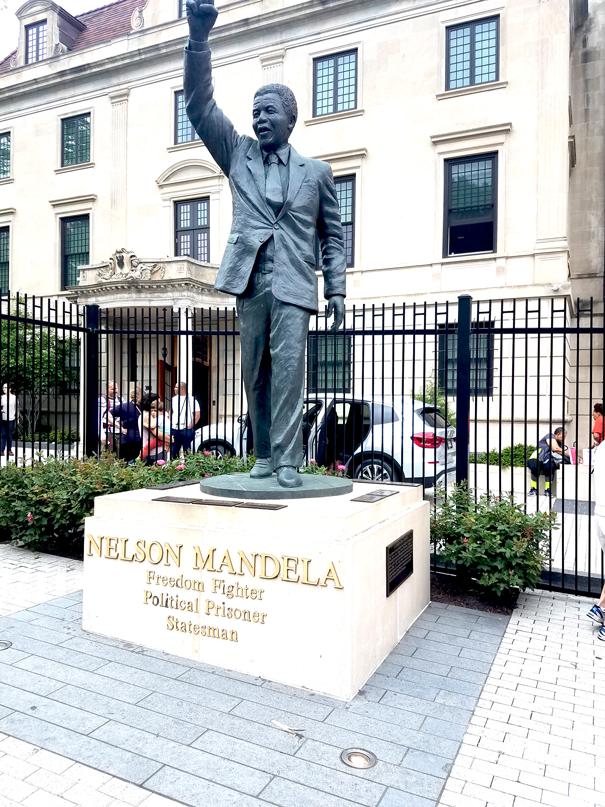 Nelson Mandela at the embassy