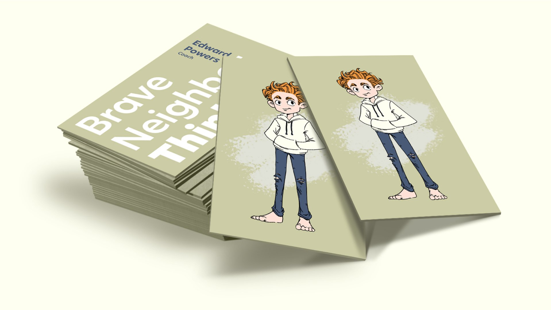 brave think business card