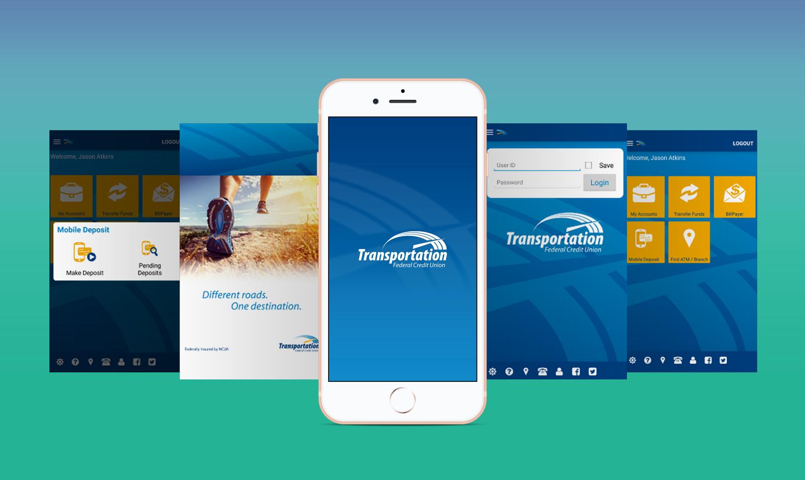 TFCU Apple iPhone 8 Plus App Screen User Interface